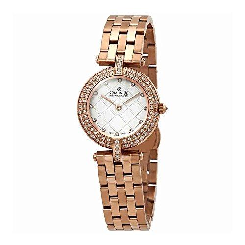Charmex Las Vegas Crystal White Dial Ladies Watch 6395