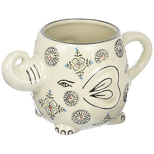 Awesome Happy Sales Hand Painted Elephant Coffee Tea Mug Cups (Henna II)