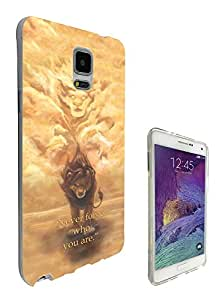 251 - The lion King Quote Never forget who you are Design Samsung Galaxy Note 4 Fashion Trend CASE Gel Rubber Silicone All Edges Protection Case Cover