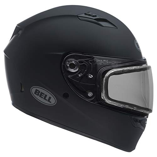 Bell Unisex-Adult Full Face Helmet (Matte Black, Small) (QUALIFIER SNOW DUAL SHIELD D.O.T certified snow off road)