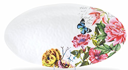 Michel Design Works Peony Melamine Oval Serving - Oval Platter Design