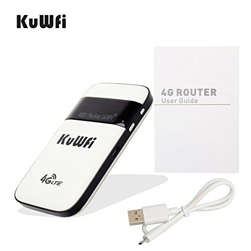 KuWFi 4G LTE Pocket WiFi Router Unlocked LTE 4G Mobile WiFi Hotspot