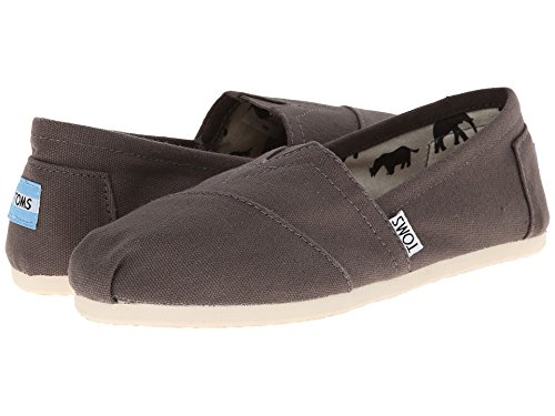 TOMS Women's Classic Canvas Slip-On (5.5 B(M) US/36 EUR, Ash)