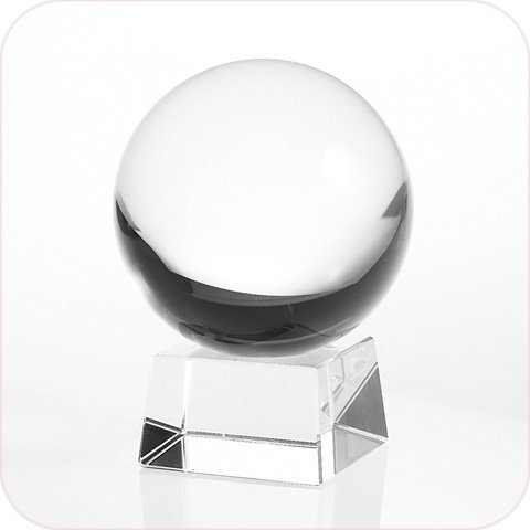 Amlong Crystal Clear Crystal Ball 110mm (4.2 in.) Including Angled Crystal Stand and Gift Package