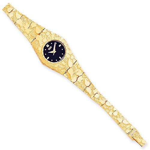 Bracelets Women's 10K Yellow Gold Nugget Watch, 7