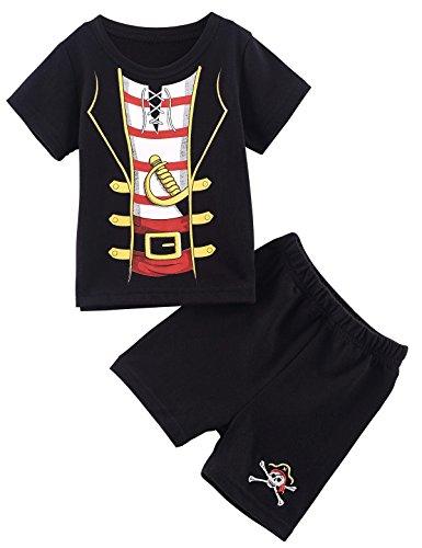 Mombebe Baby Boys Ninja Costume Bodysuit with hat