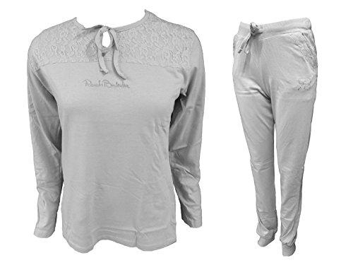 RS239 pigiama art BALESTRA lungo Grigio jersey cotone RENATO in donna rrwqY08