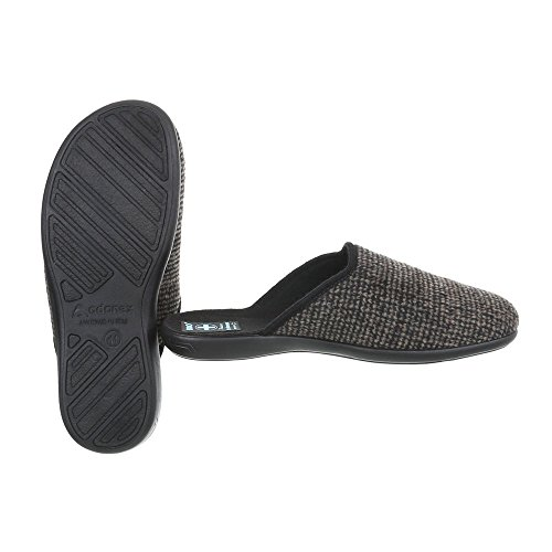 Schuhcity24 Herren Schuhe Hausschuhe Pantoffel Braun