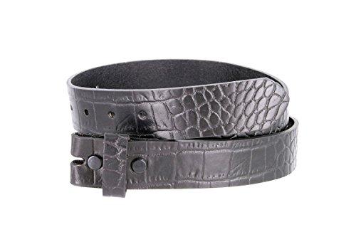 Crocodile Belt Strap (MZ Crocodile Embossed Pattern 1-3/8