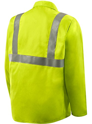 Steiner 1070RS-X 30-Inch Jacket, Weld Lite 9-Ounce Fire Resistant Cotton Lime Green with Silver Reflective Stripes, X-Large by Steiner (Image #1)
