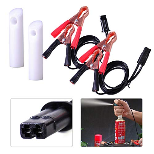 Universal Auto Car Fuel Injector Nozzle Gasoline Cleaning Tester Repair Tool Flush Cleaner Adapter DIY Cleaning Tool Kit ()