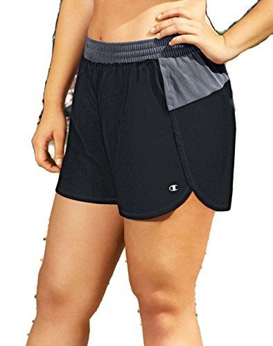 Plus Champion Size Shorts (Champion Women's Plus-Size Sport Short 5, Black/Medium Grey, 3X)