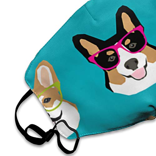 Sunglasses Corgi Mouth Mask Breathable & Comfortable Face Mask Dustproof Anti Pollution Mouth Cover Mask Military Grade Filter Safety Masks For Home Outdoor Office
