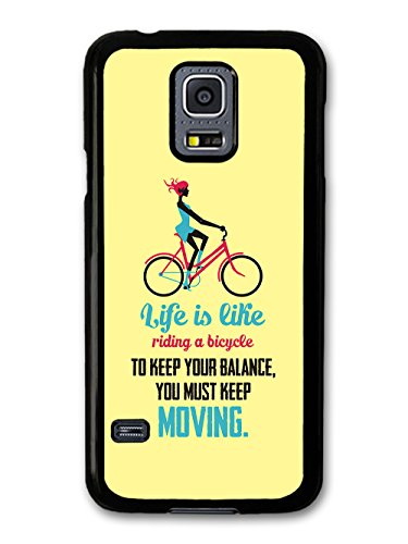 a Bicycle Albert Einstein Life & Love Inspirational Quote case for Samsung Galaxy S5 mini ()