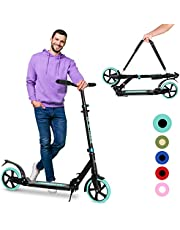 Folding Scooter for Kids 8 Years and Up - Dual Suspension - 3 Adjustable Levels Handlebar,Shock Absorption System,Big Wheels Kick Scooter for Adult and Kids Ages 6-12 Years and Up-Scooter for Adult