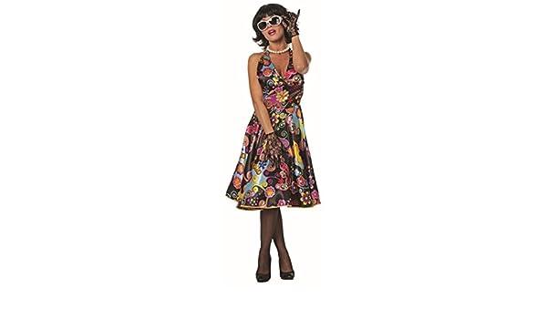 Mujer Disfraz satén de Pin Up vestido Carnaval: Amazon.es ...