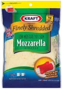 KRAFT CHEESE MOZZARELLA FINELY SHREDDED 8 OZ ZIPPER BAG PACK OF 3