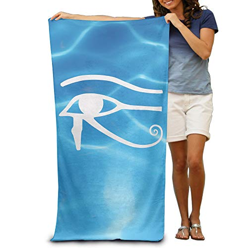 LXXYZ Beach Towel Egyptian Logo Eye of Horus Halloween 31.5