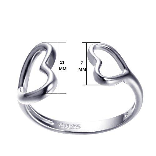 Bamos Jewerly Girls 925 Sterling Silver Ring Herat Set Promise Engagement Wedding Fashion Rings Size 8