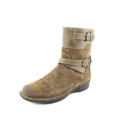 Clarks Kvinna Whistle Ranch Boot Taupe Läder
