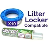 Wrapooh - Delineador de Cassete Compatible con Litter locker. Equivalente a aproximadamente 10 cassetes de Litter Locker. Por favor lea la descripción para los detalles.