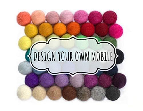 Design Your Own Felt Ball Mobile- Nursery Ceiling Mobile