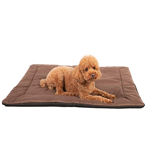 Heated Dog Beds for Large Dogs & Cats - Self Warming Cat Pet Bed Heating Pad - Best for Medium to XL Pets Crate Cage or Kennel, Washable Water-Resistant Chew-Proof Removable Soft Warm Sleeping Mattres
