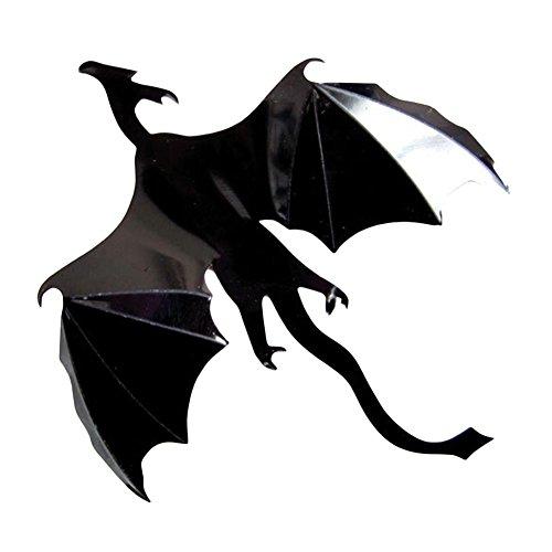 wintefei 7Pcs/Set Halloween Flying Dragon Gothic DIY Fantasy Wall Art Decals Decoration Black ()