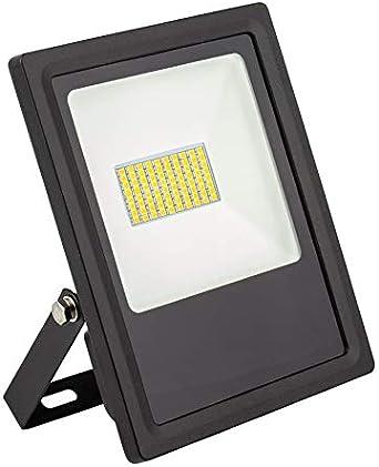 Foco Proyector LED SMD Slim 30W 120lm/W Blanco Cálido 2800K ...