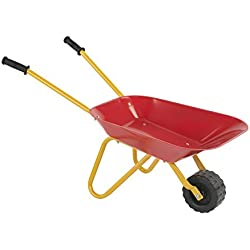 PlaSmart Little Workers Wheelbarrow Ride On Toy, Age 3 Yrs and up, Construction Toys That get Jobs Done in The Sandbox, Beach, Dirt or Snow