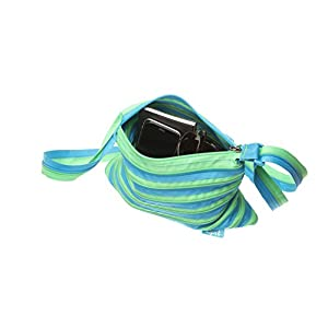ZIPIT Medium Shoulder Bag, Turquoise Blue & Green