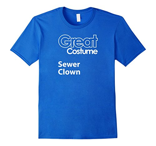 Male Geek Costume Ideas (Mens Funny Halloween Costume, Sewer Clown, Costume Ideas, Generic 2XL Royal Blue)