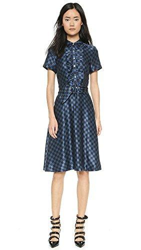 Marc by Marc Jacobs Women's Checkerboard Silk Dress, Black Multi, 10 (Silk Jacobs Marc Dress)