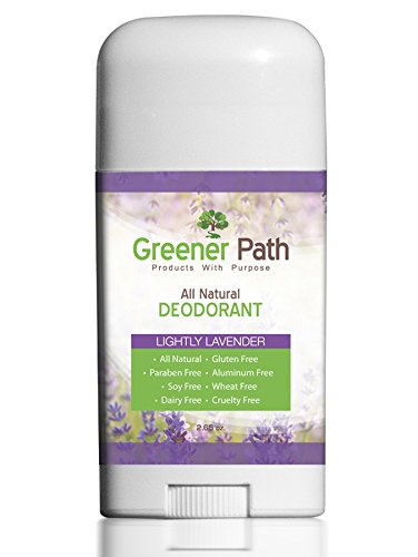 All Natural Deodorant for Women and Men by Greener Path | Lavender Scent 2.65 Oz | Non-Toxic Aluminum Free Deodorant | Made in USA | Paraben Free & Non-GMO | Natural & Organic Deodorant for (Herbal Magic Roll Deodorant)