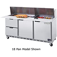 Beverage Air SPED72-10C-2 72 Refrigerated Cutting Top Sandwich Prep Table