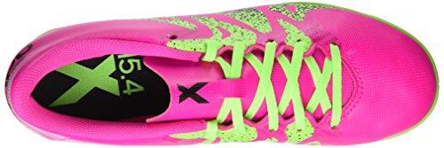 adidas X 15.4 In, Botas de Fútbol para Hombre Rosa (Shock Pink/Solar Green/Core Black)