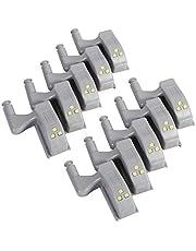 10 stks Wit Innerlijke Sensor Scharnier Led Licht Universele Kabinet Kast Kast Kledingkast Warm/Cool LED Scharnier Licht Thuis keuken Kast(koel wit)
