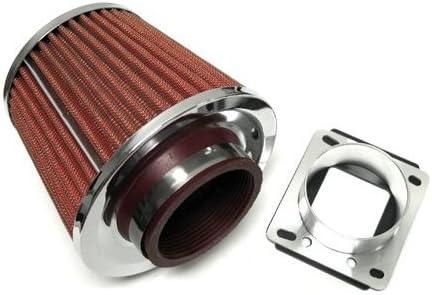 Mass Air Flow Sensor Intake Adapter 944S RED Filter For 83-91 Porsche 944