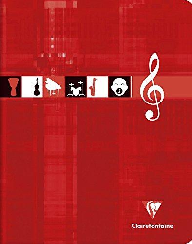 Clairefontaine 3797C - 10quaderni per musica e canto, 17x 22 cm,56pagine pentagrammate