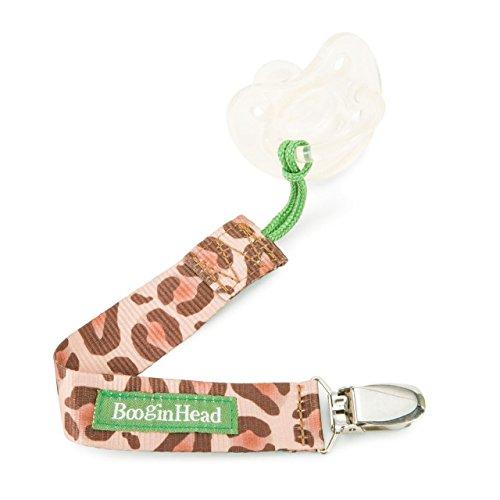 Booginhead PaciGrip Pacifier Holder Leopard