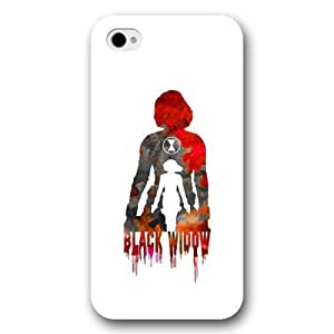 good case Customized Marvel Series Case for iphone 5 5s Marvel Comic Hero Black Widow iphone 5 5s Case, Only Fit for Apple iphone 5 5s (White Frosted Case)