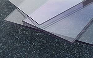 Alt-Intech - Hoja de policarbonato transparente (con protección UV, 2050 x 1250 x 3 mm)