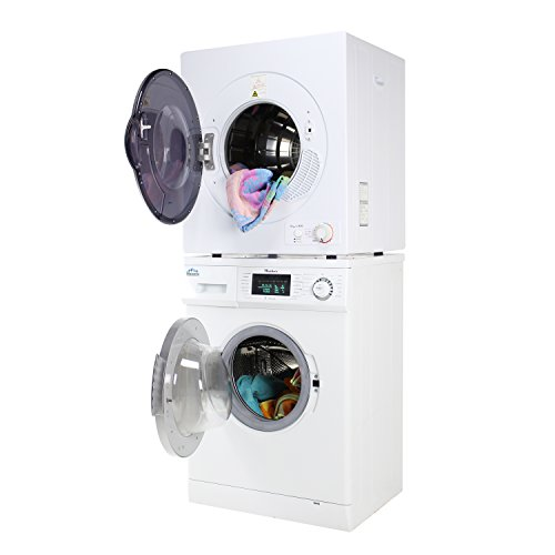 Majestic Stackable Compact Super Washer MJ824W and Compact Short Dryer MJ850D Set