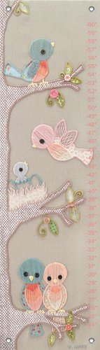 Oopsy Daisy Growth Chart, Vintage Birdies, 12'' x 42'' by Oopsy Daisy