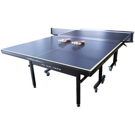Playcraft Apex 1800 Indoor Table Tennis Table, Black