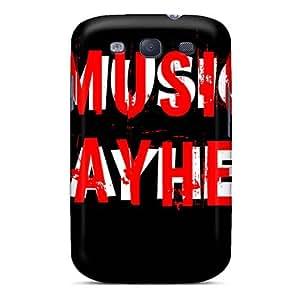 KevinCormack Samsung Galaxy S3 Shock Absorption Hard Phone Covers Custom Vivid Mayhem Band Pattern [sSS15215GKkA]