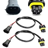 iJDMTOY H11 (H8 or H9) Wire Harness for Xenon Ballast to Stock Socket for Xenon Headlight Kit