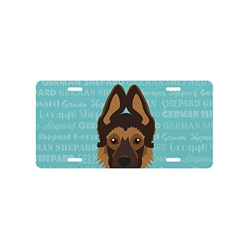 Mystic Sloth Adorable Dog Breed Specific Novelty License Plate (German Shepherd - Puppy, Standard) -