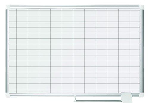 Magnetic Enamel (Bi-Office New Generation CR0630830Check Enamel Magnetic Planner 90x6025x50mm Squares)