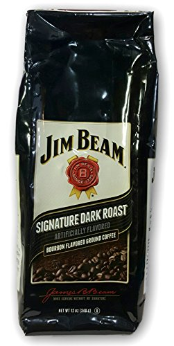 New Jim Beam Signature Dark Roast Ground Coffee 12oz Bag